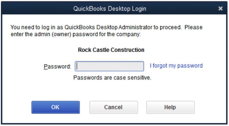 Login with Admin Password