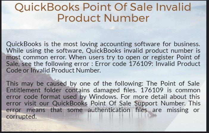 QuickBooks Point of Sale Invalid Product Number Error