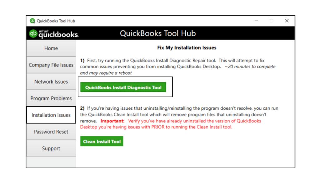 QuickBooks Install diagnostic tool?