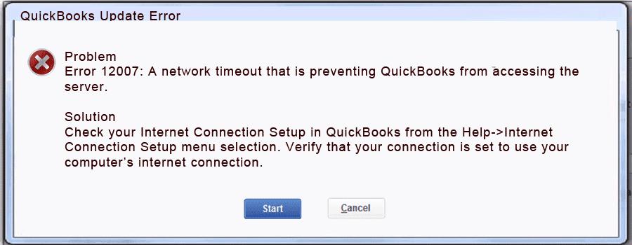 Quickbooks-2009-update-error-12007