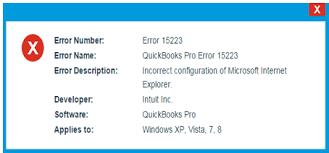 QuickBooks Error 15223 Update: Causes