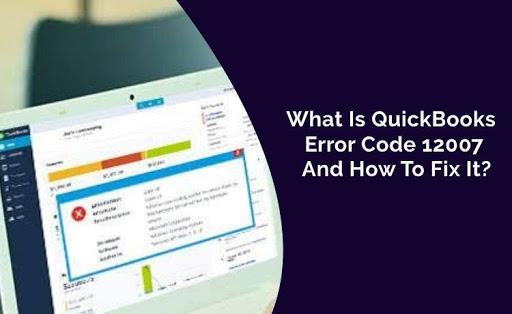 quickbooks update error 12007