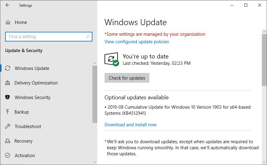 QuickBooks Update error 15227