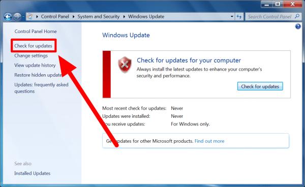 Downloading Window Updates
