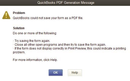 Quickbooks PDF Converter problem