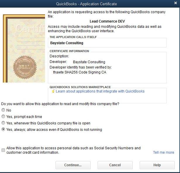 Installing and Updating Security Certificate in QuickBooks Desktop