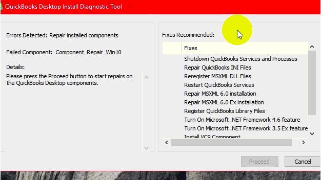 Using QuickBooks Install Diagnostic Tool to fix Quickbooks error 1723