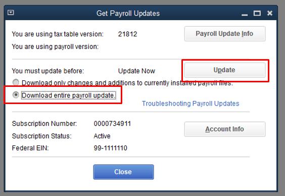 Download Entire update