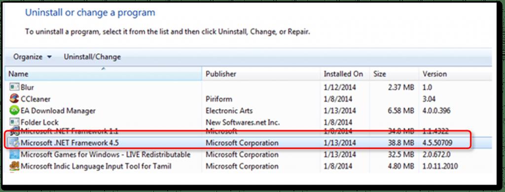 Reinstall .Net Framework to Fix QuickBooks Event ID 4