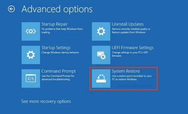 Undo All New Changes In The System Using Windows System Restore