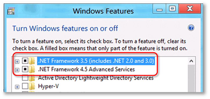 fix .NET Framework