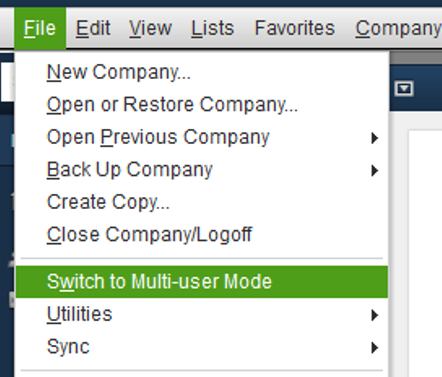 Switch to Multi-User mode.