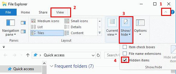 Check the Hidden Files
