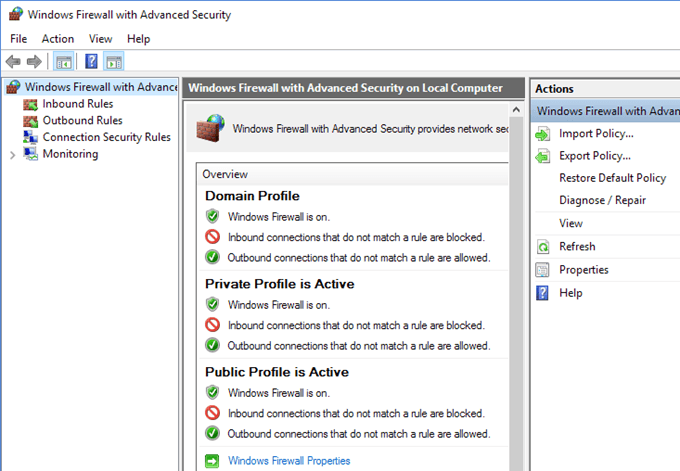 Keep out QuickBooks from Firewall Settings