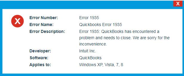 Fixing Error 1935 QuickBooks