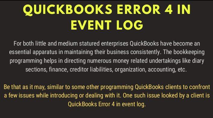 QuickBooks Event ID 4 Error